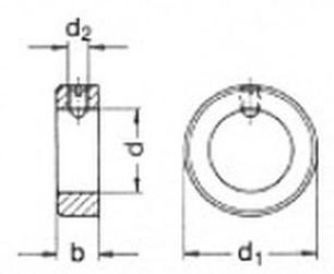 kroužek 10x20x10 BEZ PÚ se stavěcím šroubem DIN 705/553
