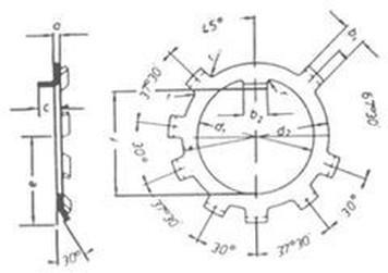 podložka M18 pr. 18x25x1 ZINEK ozubená DIN 70952 A