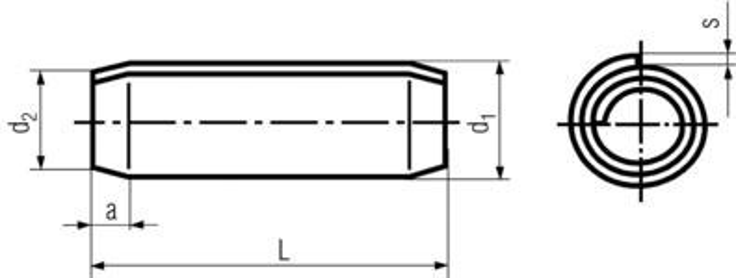 kolík 4x30 BEZ PÚ spirálový DIN 7343