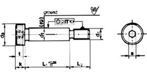 imbus M6x50 BEZ PÚ 12.9 pr 8 tol. f9 lícovaný ISO 7379