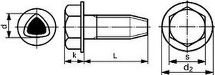 šroub M8x16 ZINEK 6hr+límec samořezný DIN 7500 D