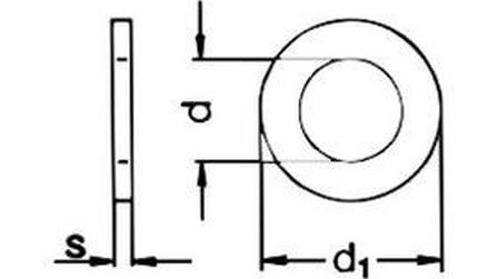 těsnící kroužek 13x20x1.5 Cu-měď DIN 7603