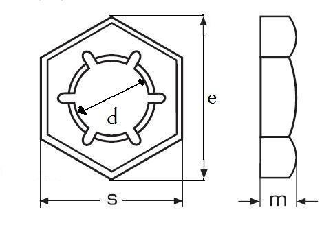 matice M10 ZINEK plechová pojistná DIN 7967