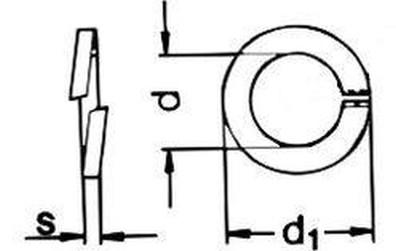 podložka M4 pr. 4.1x7x1.2 ŽLUTÝ ZINEK pérová DIN 7980