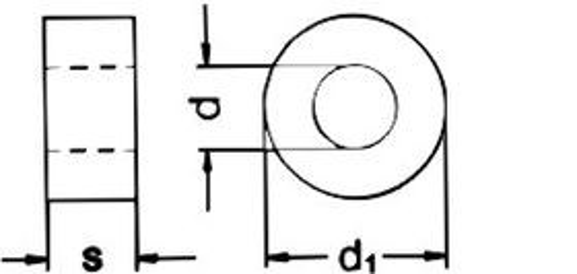 podložka M16 pr. 18x30x8 BEZ PÚ pro ocelové konstrukce DIN 7989A
