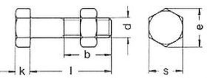 šroub M12x35 ZINEK 5.6 pro ocelové konstrukce DIN 7990