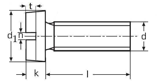 šroub M4x8 ZINEK 4.8 válcová hlava rovná drážka DIN 84