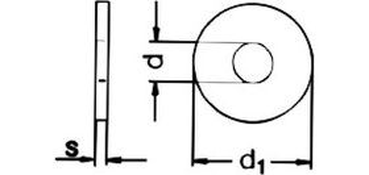 podložka M6 pr. 6.4x18x1.6 ZINEK pod nýty DIN 9021