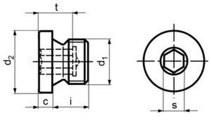 zátka M26x1.5 BEZ PÚ 5.8 vypouštěcí DIN 908