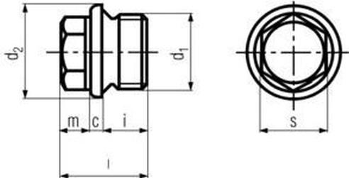 zátka G1 BEZ PÚ 5.8 vypouštěcí DIN 910