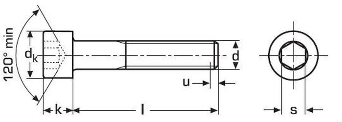 imbus M12x160 BEZ PÚ 8.8 válcová hlava DIN 912