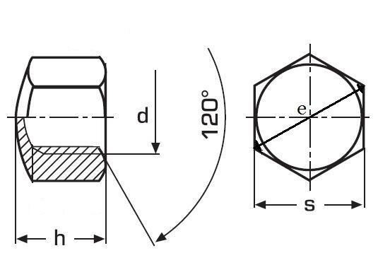matice M10 ZINEK /6/ uzavřená DIN 917