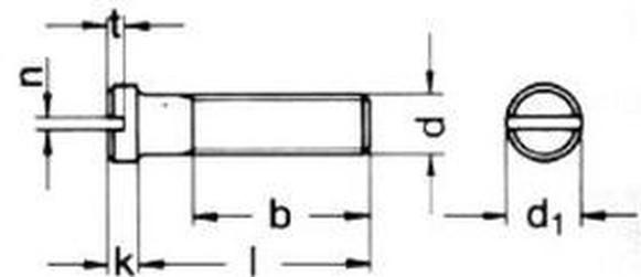 šroub M4x12 ZINEK malá hlava rovná drážka DIN 920