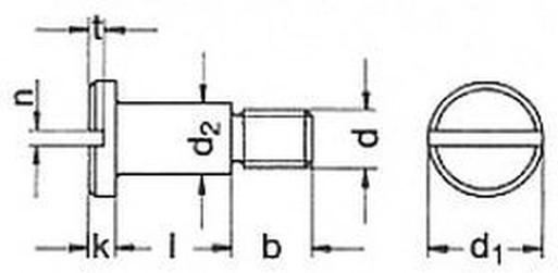 šroub M6x10 ZINEK 5.8 lícovaný DIN 923