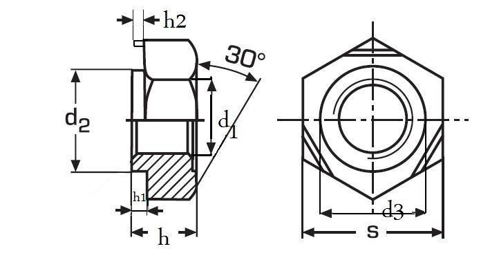 matice M10 BEZ PÚ přivařovací DIN 929