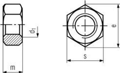 matice M18 ŽÁROVÝ ZINEK /8/ přesná šestihranná ISO fitting DIN 934