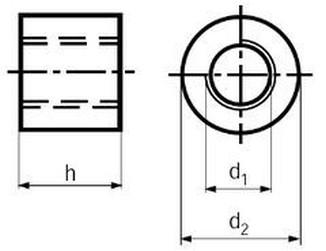 matice 30x6x60x45 trapézová kulatá DIN 88089