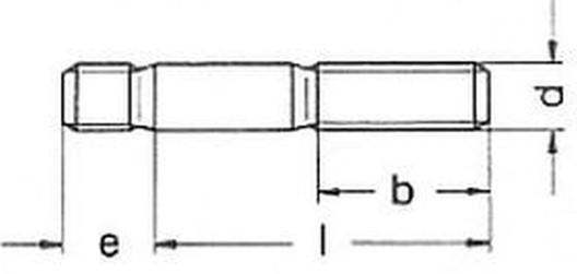 šroub M16x45 A2 NEREZ závrtný do oceli DIN 938