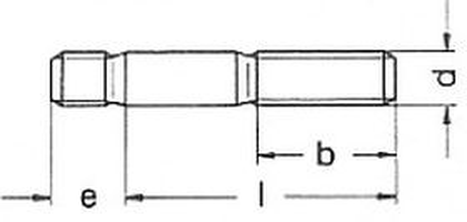šroub M6x45 ZINEK 8.8 závrtný do oceli DIN 938