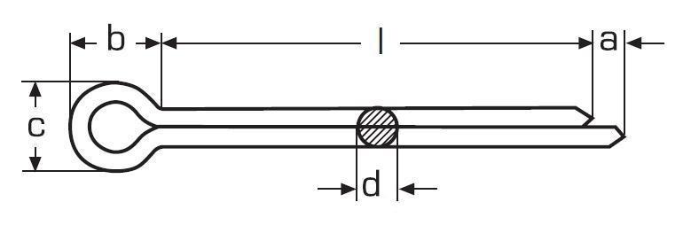 závlačka 3.2x45 ZINEK DIN 94 ISO 1234