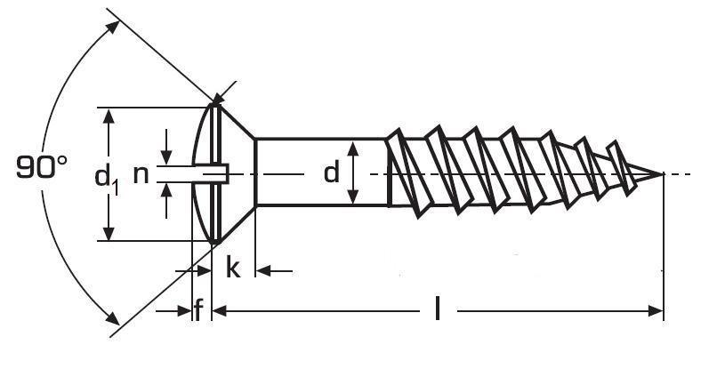 vrut 3.0x25 MOSAZ čočková hlava rovná drážka DIN 95