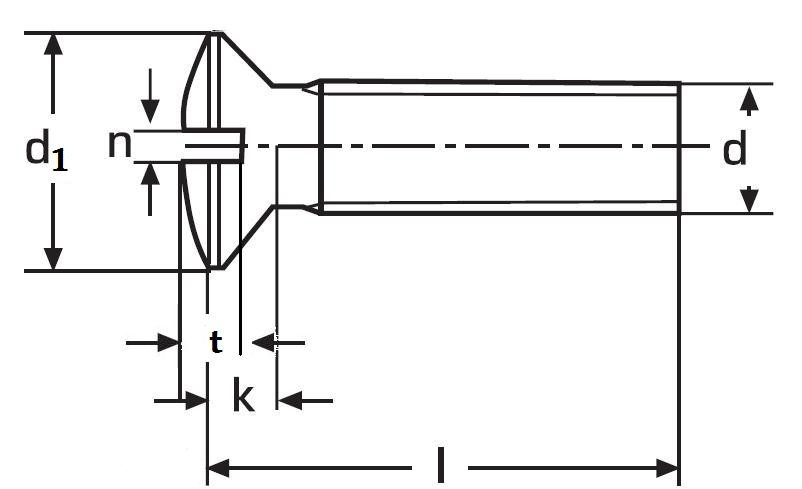 šroub M5x30 MOSAZ čočková hlava rovná drážka DIN 964