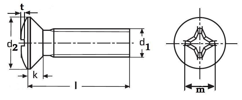 šroub M5x16 ČERNÝ ZINEK čočková hlava, křížová drážka PH DIN 966