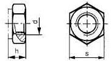 matice M12 ŽLUTÝ ZINEK /8/ pojistná kovová DIN 980V