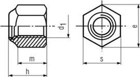 matice M16 ZINEK /8/ vysoká pojistná s PA kroužkem DIN 982