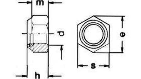 matice M4 ZINEK /8/ nízká pojistná s PA kroužkem DIN 985
