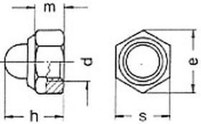 matice M6 ZINEK /6/ pojistná + klobouková černá DIN 986