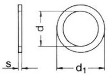 podložka 5x10x0.5 BEZ PÚ distanční (vymezovací) DIN 988