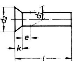nýt 5x50 Fe-ocel zápustná hlava DIN 661