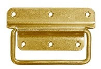 US držák bednový 90x70mm žlutý zn zaoblený