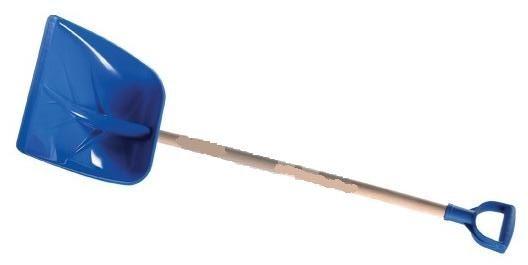 hrablo-lopata na sníh Syberia modrá plastová 40.5x40.5cm výška 155.5cm