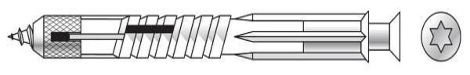 hmoždinka 10x100 6hr VLF plynosilikát