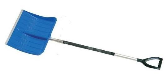 hrablo na sníh Alpinic modré Alu násada 50.5x41cm výška 157cm