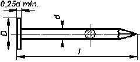 hřebík 25/3.1 Al-hliník lepenkový DIN EN 10230 ČSN 2813.30