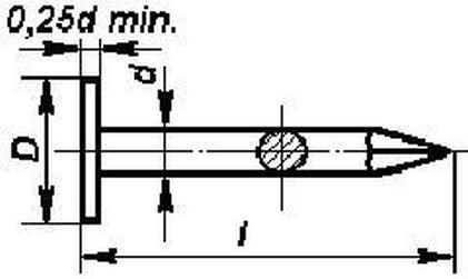 hřebík 36/2.5 BEZ PÚ velká hlava lepenkový DIN EN 10230 ČSN 2813.20