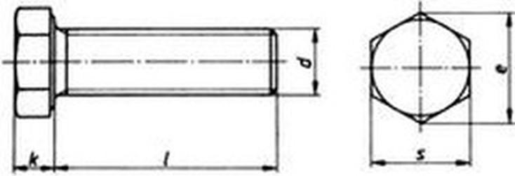 šroub M10x30 BEZ PÚ 10.9 OK16 šestihranný, celý závit, ISO 4017