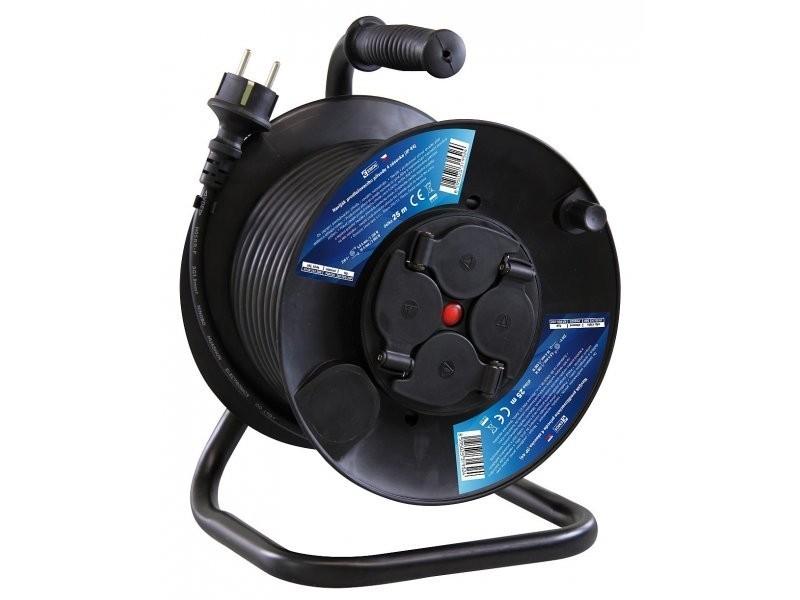 kabel elektrický EMOS,guma, 230 V buben 25 m, 4 zásuvky