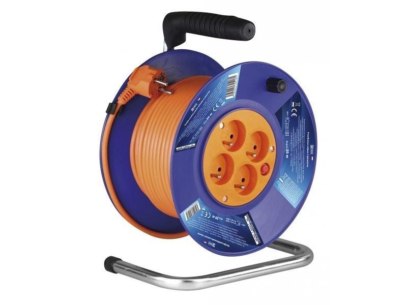 kabel elektrický EMOS,PVC, 230 V buben 20m, 4 zásuvky P19420
