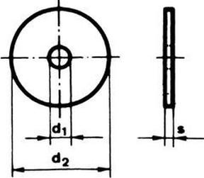 podložka 6.4x25x1.5 ZINEK karosářská DIN 522