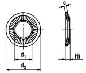 podložka M12 12.4x24x1.6 ZINEK kontaktní ozubená