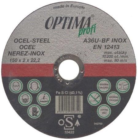 kotouč 125x2.0 A2/fe řezný IN12520 OPTIMA PROFI