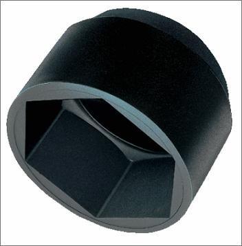 krytka M5 černá BK 8 na šestihran