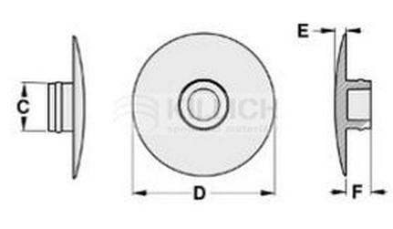 krytka imbusu M5 bílá plastová pro DIN 7991
