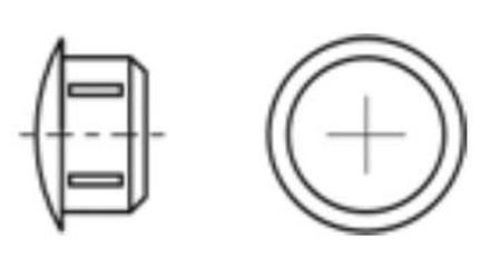 krytka 60x25 3-4.5mm černá do jaklu erodovaná