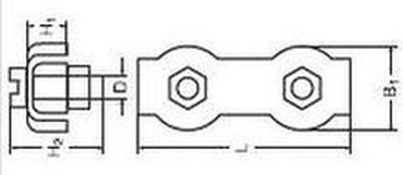 lanová spojka 6 ZINEK dvojitá duplex