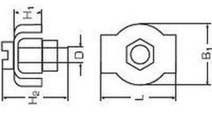 lanová spojka 6 ZINEK jednoduchá Simplex